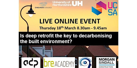 Is Deep Retrofit the key to Decarbonising the Built Environment? tickets