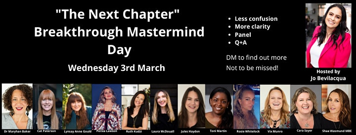 'The Next Chapter' Breakthrough Mastermind Day image