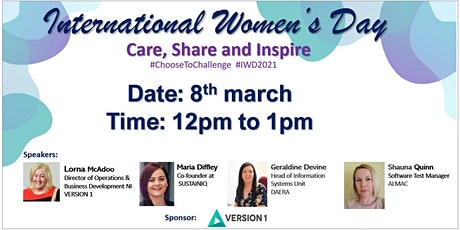 Version 1 NI International Women's day Event (Care, Share and Inspire) billets