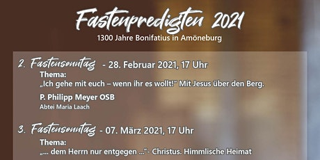 Fastenpredigt  am 07.03.2021 Tickets