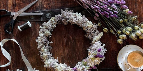 SPRING DRIED FLOWER WREATH WORKSHOP WITH IXIA FLOWERS - £49.95 tickets
