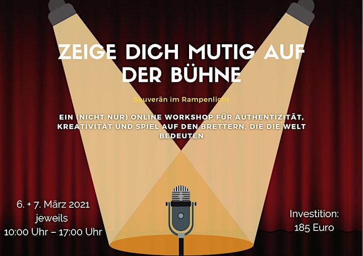Zeige Dich mutig auf der Bühne!: Bild