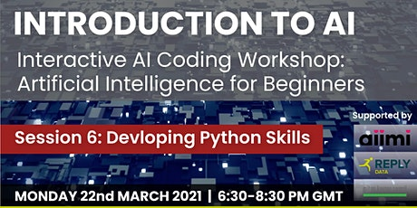 Artificial Intelligence  Coding Workshop: Developing Skills in Python tickets