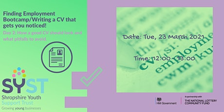 Finding Employment Bootcamp/Writing a CV that gets you noticed! tickets