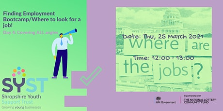 Finding Employment Bootcamp/Where to look for a job! tickets