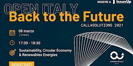 OPEN ITALY 2021_CALL 4 Solutions | Focus on Sustainability biglietti