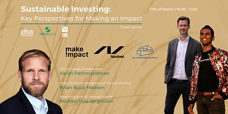 Make!mpact x Nordnet x HC Andersen Capital: Sustainable Investing tickets