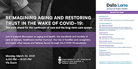 Reimagining Aging and Restoring Trust in the Wake of COVID-19 tickets