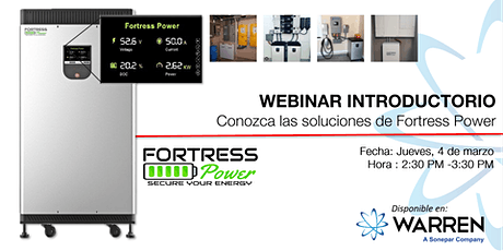 Webinar Introductorio: Fortress Power tickets