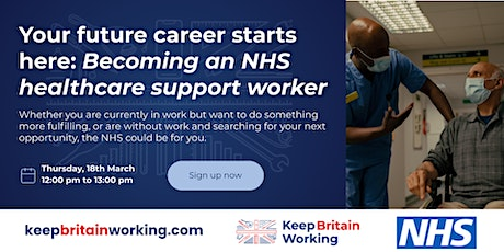 Your future career starts here: Becoming an NHS healthcare support worker tickets