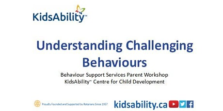 Understanding Challenging Behaviours - Virtual Workshop tickets