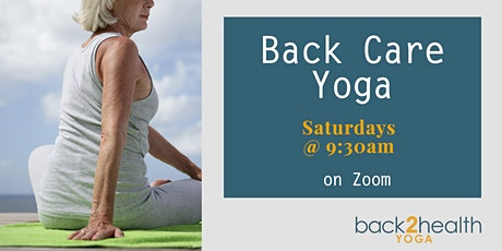 Yoga for Back Care - Livestream tickets