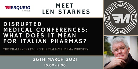 Disrupted  medical conferences: What does it mean  for Italian pharmas? biglietti