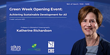 Katherine Richardson: Achieving Sustainable Development for All tickets