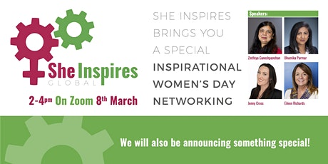She Inspires brings you a special International Women's Day Networking Tickets