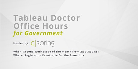 Tableau Doctor Office Hours for Government biglietti