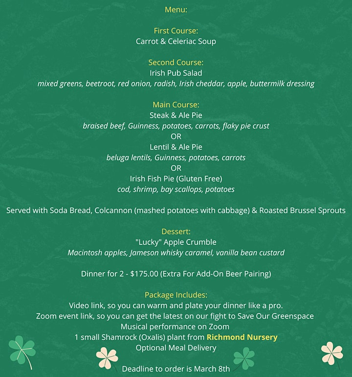 Pre-St. Patrick's Day Un-Dinner Party image
