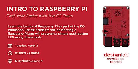 EG: Intro to Raspberry Pi bilhetes