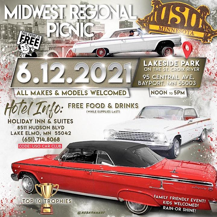 Uso Car Club Minnesota Chapter Regional Picnic / Car Show ***Free Event*** image