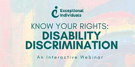 Know Your Rights: Disability discrimination | Interactive Webinar tickets
