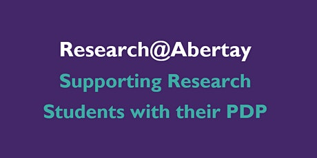 Supporting Research Students with their PDP tickets