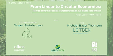 Green Week x Ouroboros x Letbek: From Linear to Circular Economies biljetter