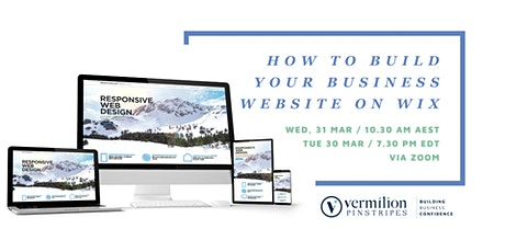 How to build your business website on Wix tickets