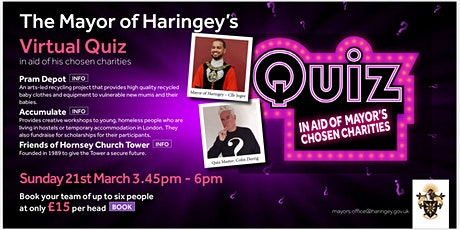 Let's Get Quizzical - The Mayor of Haringey's Quiz tickets