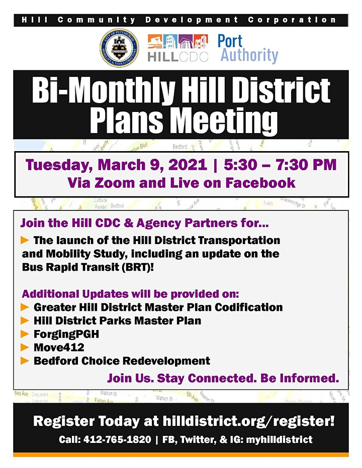 March 2021 Bi-Monthly Hill District Plans Meeting image