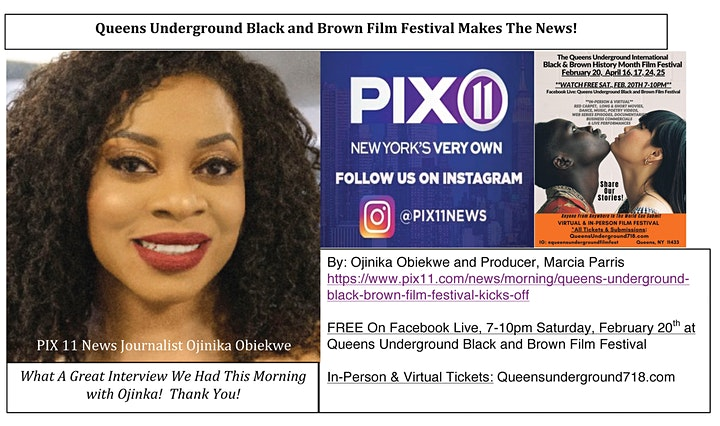 Queens Underground Black & Brown Film Festival - April 2021 image