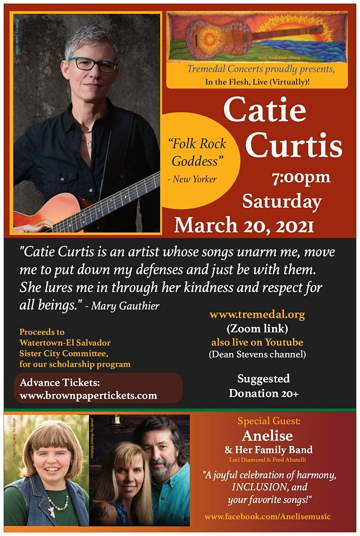 Catie Curtis (Special Guest: Anelise and her Family Band): Mar. 20; 7 PM image