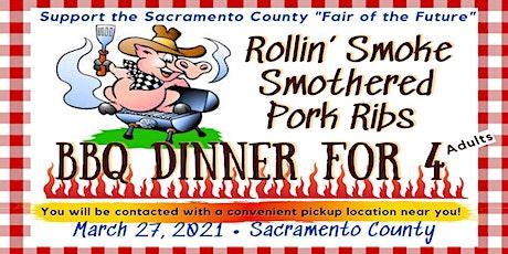 Rollin' Smoke Smothered Pork Rib BBQ Dinner tickets