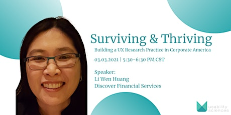 Surviving & Thriving: Building a UX Research Practice in Corporate America tickets