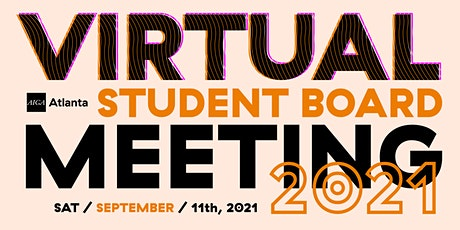 Virtual Student  Board Meeting – September 2021 tickets