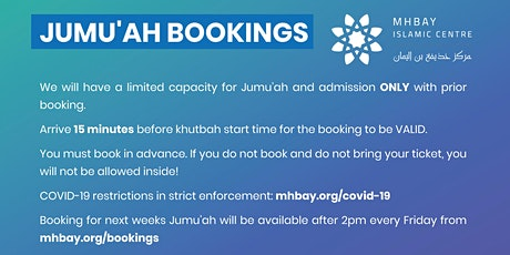 Jumu'ah Friday 5th Mar 2021 tickets