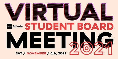 Virtual Student  Board Meeting – November 2021 tickets