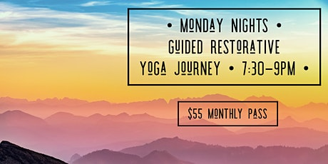 Monday Nights Guided Restorative Yoga Journey tickets