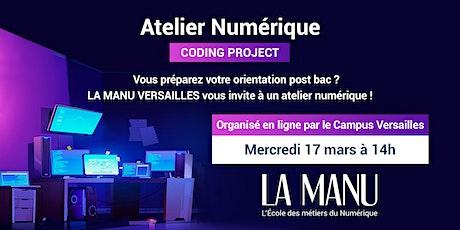 Atelier Numérique (lycéens) : Coding Project à Versailles billets