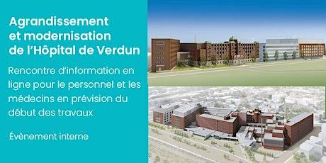 Agrandissement de l'Hôpital de Verdun : rencontre pour le personnel billets