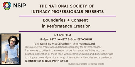 Boundaries and Consent in Performance Creation tickets