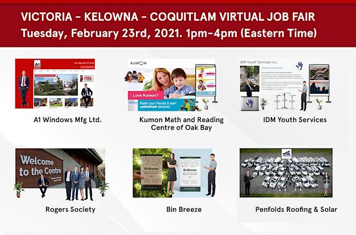 Coquitlam Virtual Job Fair - Thursday, April 15th 2021 image