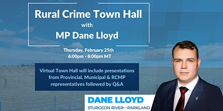 Rural Crime Town Hall with MP Dane Lloyd tickets
