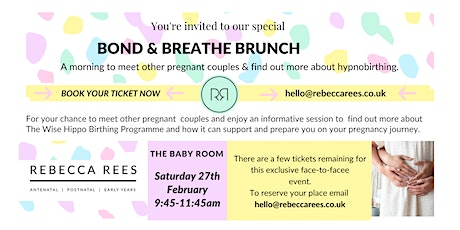 Bond & Breathe Brunch ~ Exeter Baby Room tickets