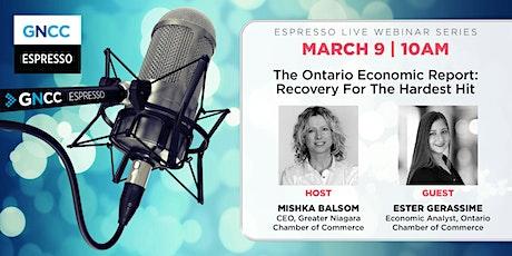 Espresso Live March 9: 2021 Ontario Economic Report tickets
