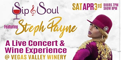 Sip & Soul featuring  STEPH PAYNE Live in Concert tickets