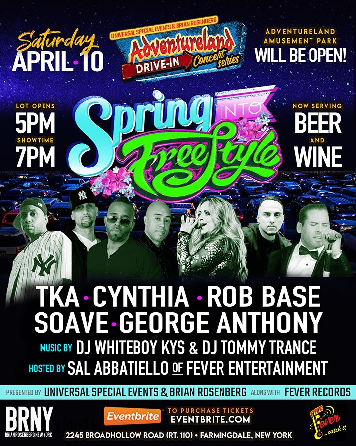 SPRING INTO FREESTYLE!: Adventureland Drive-In Concert Series image