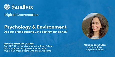 "Digital Conversation ""Are our brains pushing us to destroy our planet?"" tickets"