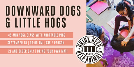 Yoga with Adoptable Pigs (Downward Dog & Little Hogs) tickets