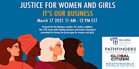 Justice for Women and Girls - It's Our Business tickets