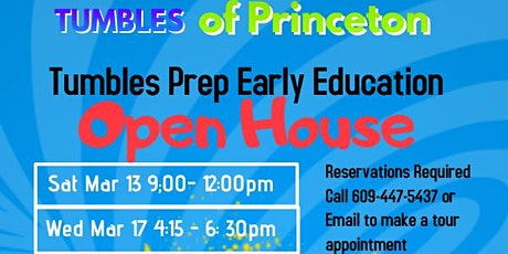 Tumbles Prep. Early Education- OPEN HOUSE tickets